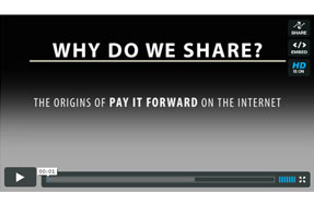 Why Do We Share: How Pay It Forward Happens on the Internet