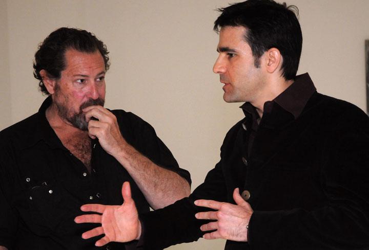 sheen levine with julian schnabel